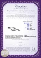 product certificate: B-AA-67-N-DBL