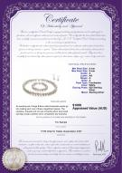 product certificate: FW-W-A-89-S-Kaitlyn