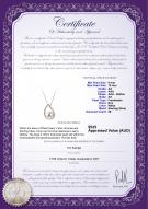 product certificate: FW-W-AA-910-P-Isabella