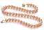 7-8mm AAAA Quality Freshwater Cultured Pearl Necklace in Pink
