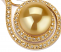 12-13mm AAA Quality South Sea Cultured Pearl Pendant in Catalina Gold