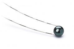 7-8mm AAA Quality Japanese Akoya Cultured Pearl Pendant in Kristine Black