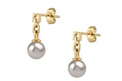 6-7mm AA Quality Japanese Akoya Cultured Pearl Earring Pair in Anya White
