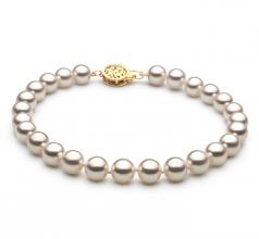 6.5-7mm Hanadama - AAAA Quality Japanese Akoya Cultured Pearl Bracelet in Hanadama 7-inch White