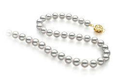 6.5-7mm Hanadama - AAAA Quality Japanese Akoya Cultured Pearl Necklace in Hanadama 23-inch White