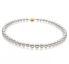 6-9mm Hanadama - AAAA Quality Japanese Akoya Cultured Pearl Necklace in Hanadama 16-inch White