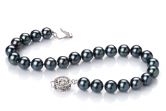 6.5-7mm AA Quality Japanese Akoya Cultured Pearl Bracelet in Black