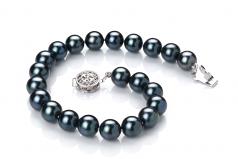 7.5-8mm AA Quality Japanese Akoya Cultured Pearl Bracelet in Black