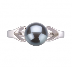 6-7mm AA Quality Freshwater Cultured Pearl Ring in Jessica Black