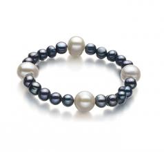 6-11mm A Quality Freshwater Cultured Pearl Bracelet in Irina Black