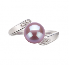 6-7mm AAA Quality Freshwater Cultured Pearl Ring in Dana Lavender