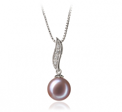 9-10mm AAA Quality Freshwater Cultured Pearl Pendant in Clementina Lavender