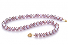 8.5-9.5mm AAAA Quality Freshwater Cultured Pearl Necklace in Lavender