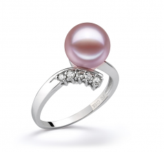 9-10mm AAAA Quality Freshwater Cultured Pearl Ring in Grace Lavender