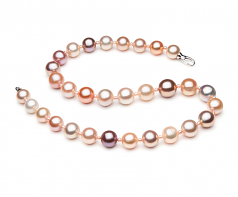 3-14mm AA+ Quality Freshwater Cultured Pearl Necklace in Ella Edison Multicolour