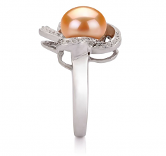 9-10mm AA Quality Freshwater Cultured Pearl Ring in Fiona Pink
