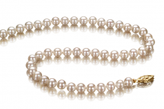 5-5.5mm AA Quality Freshwater Cultured Pearl Necklace in White