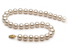6.5-7.5mm AA Quality Freshwater Cultured Pearl Necklace in White