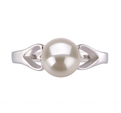 6-7mm AA Quality Freshwater Cultured Pearl Ring in Jessica White