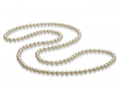 5-6mm AAA Quality Freshwater Cultured Pearl Necklace in 30 inches White