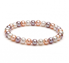 6-7mm AA Quality Freshwater Cultured Pearl Bracelet in Donna Multicolour