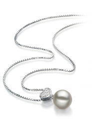 7-8mm AA Quality Japanese Akoya Cultured Pearl Pendant in Randy White