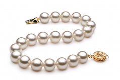 8-9mm AA Quality Japanese Akoya Cultured Pearl Bracelet in White