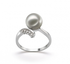 8-9mm AA Quality Japanese Akoya Cultured Pearl Ring in Grace White