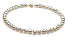 8-8.5mm AAA Quality Japanese Akoya Cultured Pearl Necklace in White