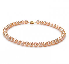8.5-9mm AAAA Quality Freshwater Cultured Pearl Necklace in Pink