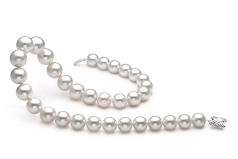 12-16mm AAA Quality South Sea Cultured Pearl Necklace in White