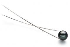 8-9mm AA Quality Tahitian Cultured Pearl Pendant in Kristine Black