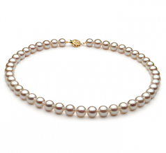 8.5-9mm AA Quality Japanese Akoya Cultured Pearl Necklace in White