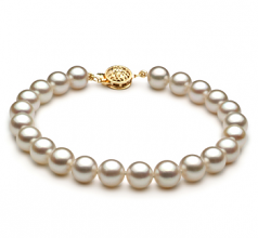 7.5-8mm AAA Quality Japanese Akoya Cultured Pearl Bracelet in White