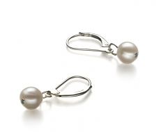 6-7mm A Quality Freshwater Cultured Pearl Set in Weave White