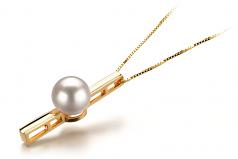 7-8mm AA Quality Japanese Akoya Cultured Pearl Pendant in Johana White