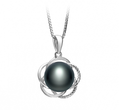 9-10mm AA Quality Freshwater Cultured Pearl Pendant in Bobbie Black