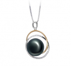 12-13mm AA Quality Freshwater Cultured Pearl Pendant in Judith Black