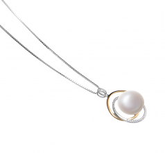 12-13mm AA Quality Freshwater Cultured Pearl Pendant in Judith White