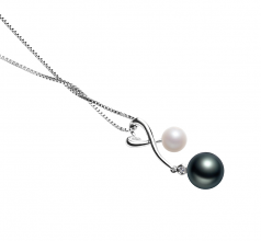 5-8mm AAAA Quality Freshwater Cultured Pearl Pendant in Anita Black