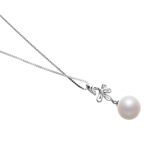 10-11mm AAAA Quality Freshwater Cultured Pearl Pendant in Phoenix White