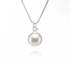 9-10mm AAAA Quality Freshwater Cultured Pearl Pendant in Lauren White