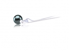 9-10mm AAA Quality Tahitian Cultured Pearl Pendant in Nicole Black