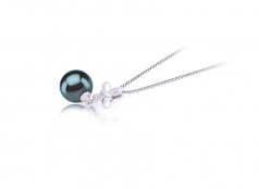 9-10mm AAA Quality Tahitian Cultured Pearl Pendant in Taylor Black