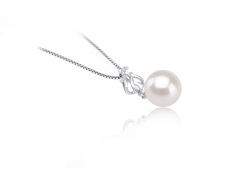 9-10mm AAAA Quality Freshwater Cultured Pearl Pendant in Merina White