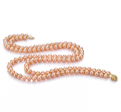 6-7mm AA Quality Freshwater Cultured Pearl Necklace in Ulrike Pink