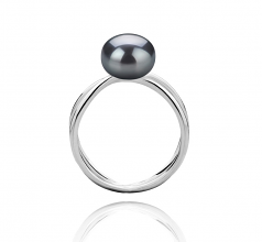 8-9mm AAA Quality Freshwater Cultured Pearl Ring in Esty Black