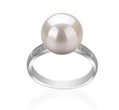 10-11mm AAAA Quality Freshwater Cultured Pearl Ring in Oana White
