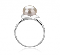 8-9mm AAA Quality Freshwater Cultured Pearl Ring in Anais White