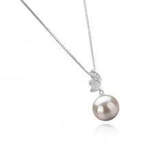 10-11mm AAAA Quality Freshwater Cultured Pearl Pendant in Justine White